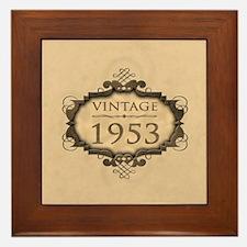 1953 Birthday Vintage (Rustic) Framed Tile