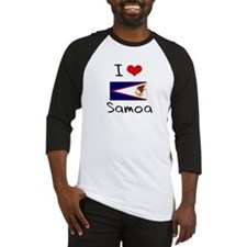 I HEART SAMOA FLAG Baseball Jersey