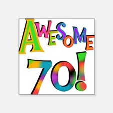 Awesome 70 Birthday Sticker