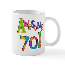 Awesome 70 Birthday Small Mugs