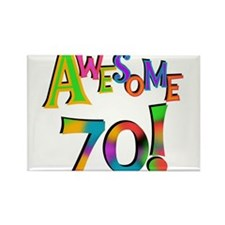 Awesome 70 Birthday Rectangle Magnet