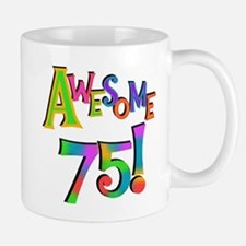 Awesome 75 Birthday Small Small Mug
