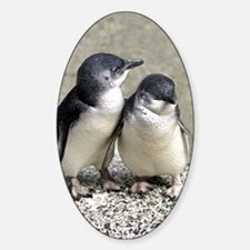 Penguin Buddies Oval Decal