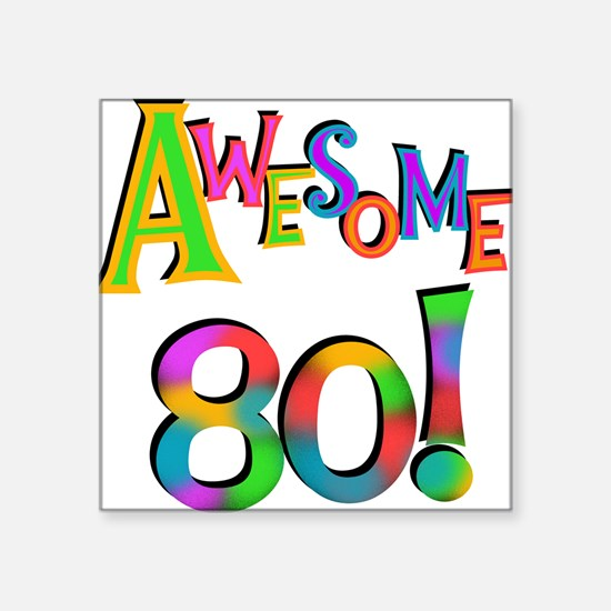 Awesome 80 Birthday Sticker