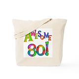 80th birthday Regular Canvas Tote Bag