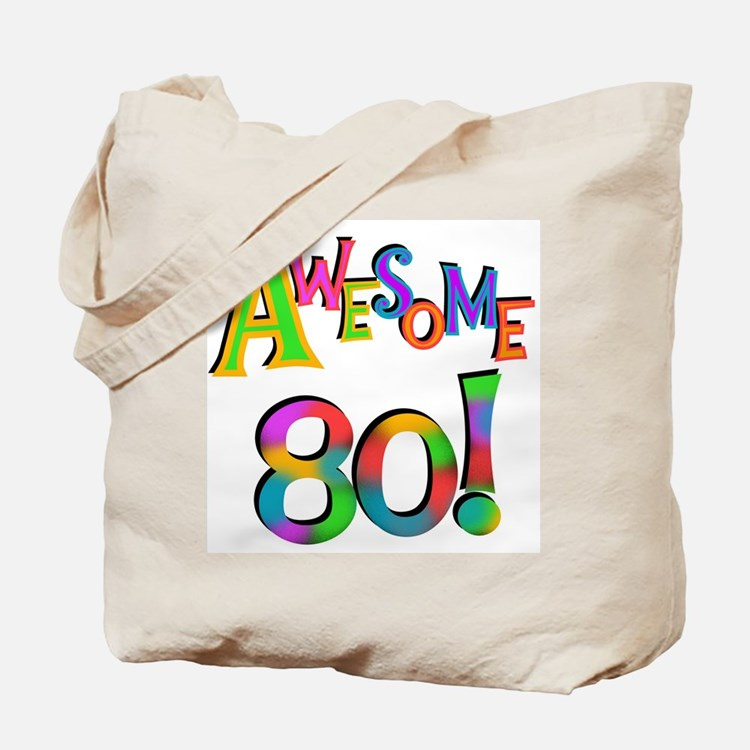 Awesome 80 Birthday Tote Bag