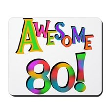 Awesome 80 Birthday Mousepad