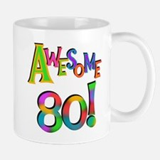 Awesome 80 Birthday Mug