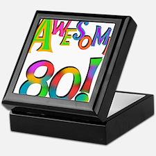 Awesome 80 Birthday Keepsake Box