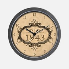 1943 Birthday Vintage (Rustic) Wall Clock