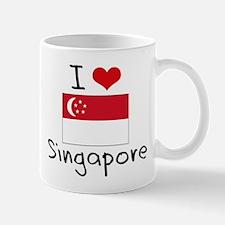 I HEART SINGAPORE FLAG Mug