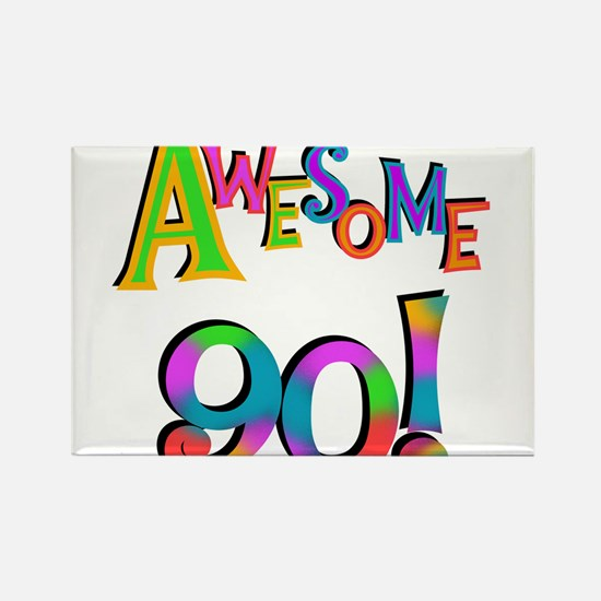 Awesome 90 Birthday Rectangle Magnet