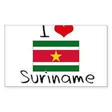 I HEART SURINAME FLAG Decal