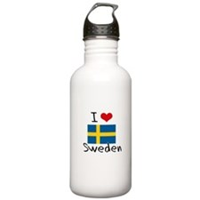 I HEART SWEDEN FLAG Water Bottle