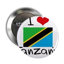"I HEART TANZANIA FLAG 2.25"" Button"
