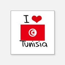 I HEART TUNISIA FLAG Sticker