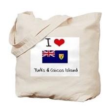 I HEART TURKS & CAICOS ISLAND FLAG Tote Bag