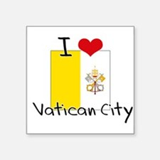 I HEART VATICAN CITY FLAG Sticker