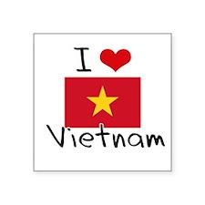 I HEART VIETNAM FLAG Sticker