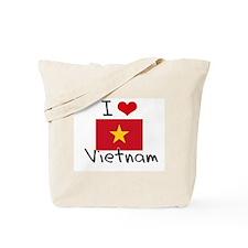 I HEART VIETNAM FLAG Tote Bag