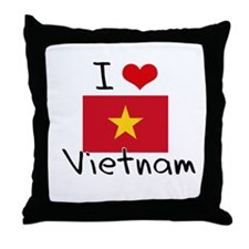 I HEART VIETNAM FLAG Throw Pillow