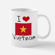 I HEART VIETNAM FLAG Mug