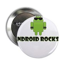 "Android Rocks 2.25"" Button"
