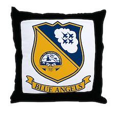 F-18 Blue Angels Throw Pillow