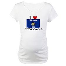 I HEART WISCONSIN FLAG Shirt