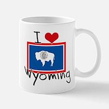 I HEART WYOMING FLAG Mug