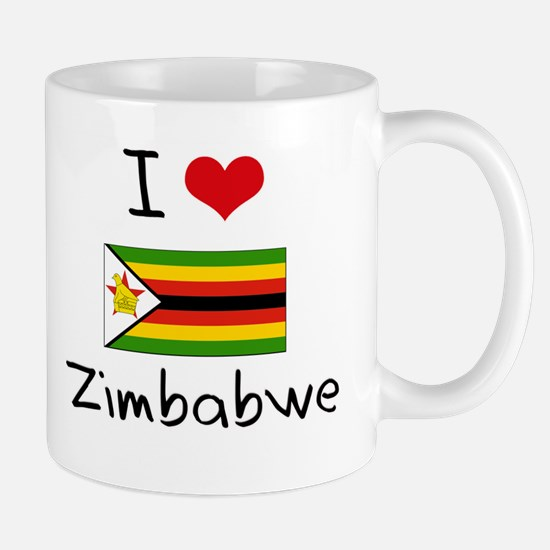 I HEART ZIMBABWE FLAG Mug
