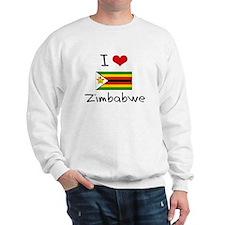 I HEART ZIMBABWE FLAG Sweatshirt