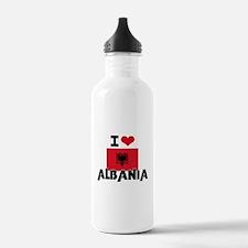 I HEART ALBANIA FLAG Water Bottle