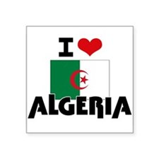 I HEART ALGERIA FLAG Sticker