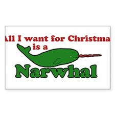 All I want for christmas is a narwhal Decal