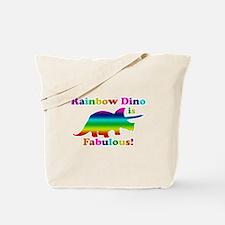 Rainbow dino Tote Bag