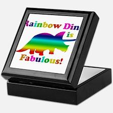 Rainbow dino Keepsake Box