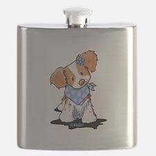 Brittany Spaniel Girl Flask