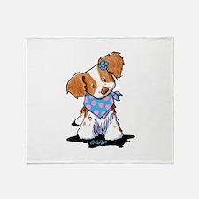 Brittany Spaniel Girl Throw Blanket