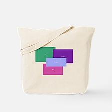 Aspect Ratio Color Blocks Tote Bag