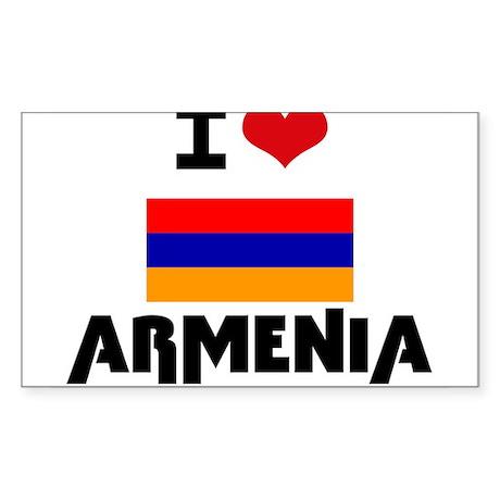 I HEART ARMENIA FLAG Sticker