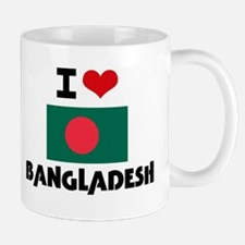 I HEART BANGLADESH FLAG Mug