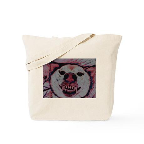Smiling Shiba Red & Blue Tote Bag