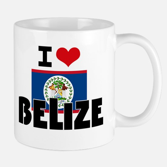 I HEART BELIZE FLAG Mug