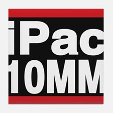 ipac 10mm red Tile Coaster