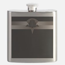 Black and Bronze Art Deco Tower Flask