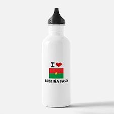 I HEART BURKINA FASO FLAG Water Bottle
