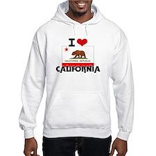 I HEART CALIFORNIA FLAG Hoodie