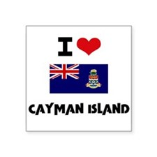 I HEART CAYMAN ISLAND FLAG Sticker