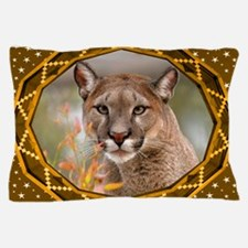 Geometric Cougar Pillow Case